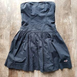 Hollister Navy Strapless Dress